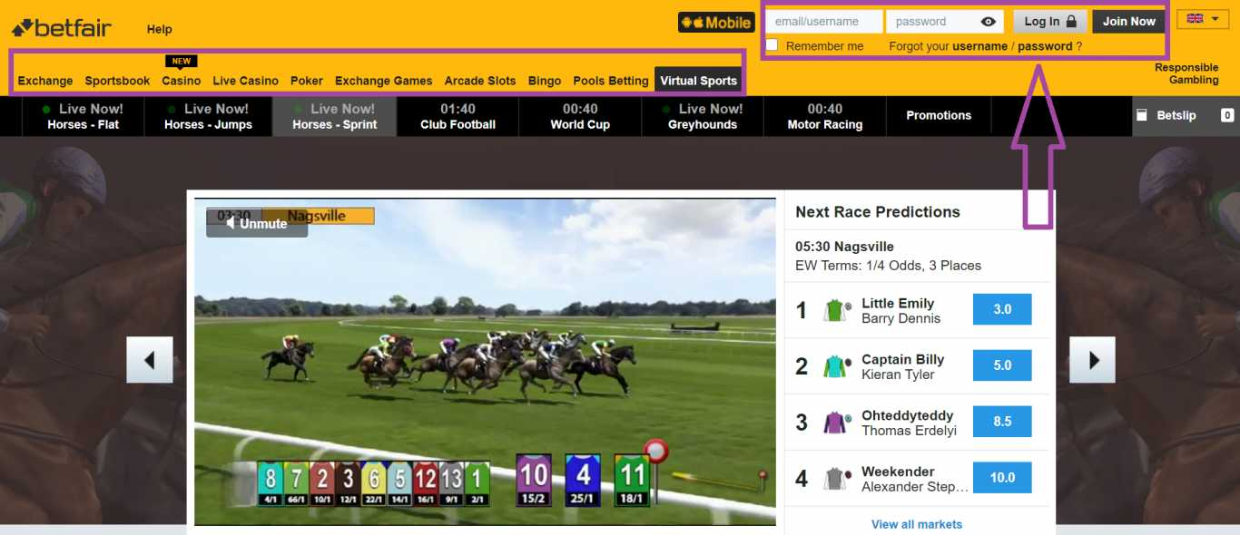 Betfair iOS app download